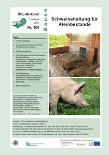 Schweinehaltung für Kleinbestände