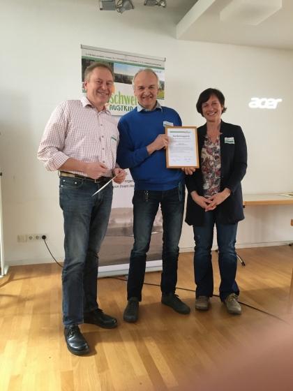 Anerkennungspreis für besondere Verdienste um die Bioschweinehaltung 2020